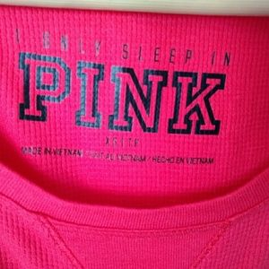 Cherry Red PINK Thermal Tee